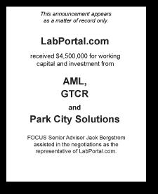 Tombstone: LabPortal.com Corporate Finance Deal