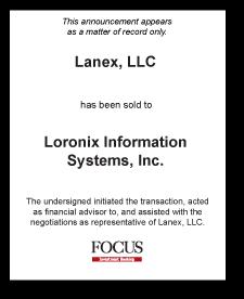 Tombstone: Lanex, LLC Divestiture