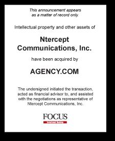 Tombstone: Ntercept Communications, Inc. Divestiture