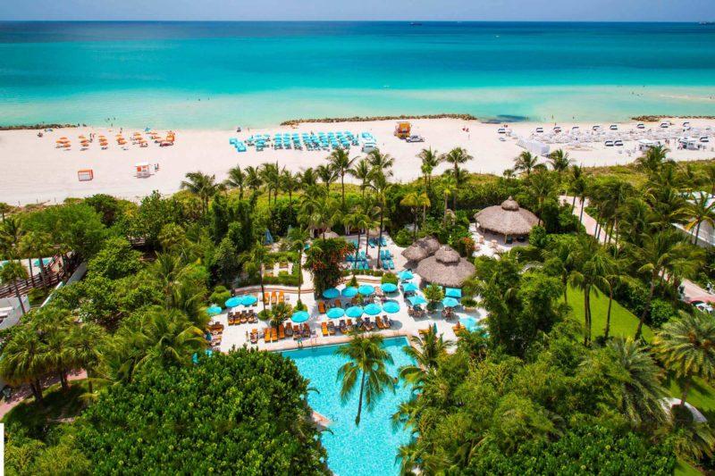 Aerial photograph of resort at Miami Beach