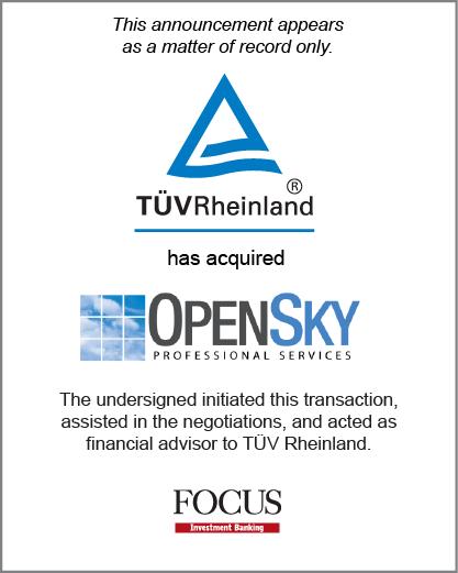 TÜV Rheinland has acquired OpenSky