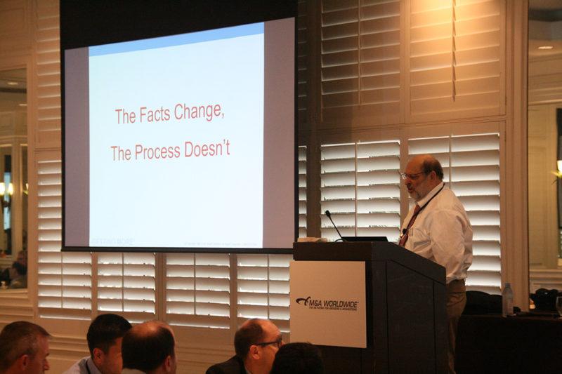 Stuart Diamond speaks at M&A Worldwide's Rainmaker Miami conference.
